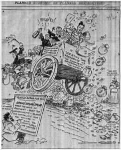 1934 Cartoon Showing That the Communist Enemy Has Never Changed!